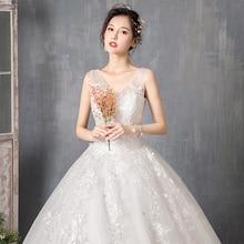 Wedding Dress 2019 New Cheap Fairy Simple French Style Bride Ball Gown Vestidos De Novia Robe Sleepwear Shoulder Top 312a