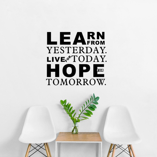 Inspirational Quotes Learn From Yesterday Live For Today Hope For