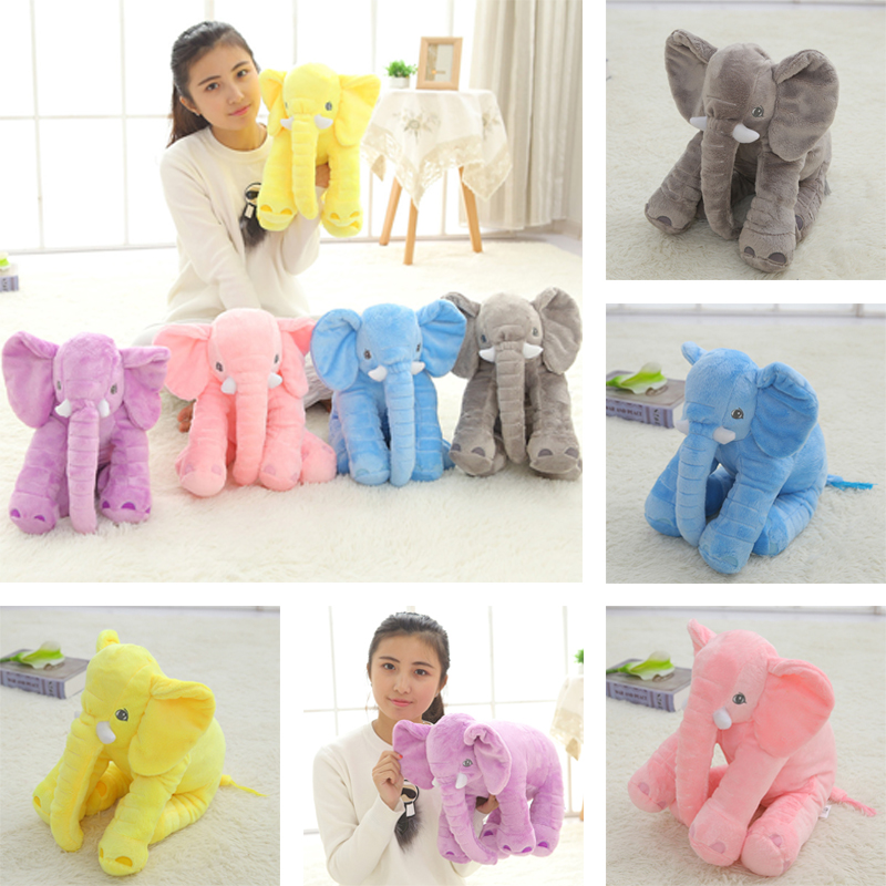 40cm New Fashion Animals toys Stuffed Soft Elephant Pillow Baby Sleep Toys Room Bed Decoration Plush Toys for kids cute 45cm stuffed soft plush penguin toys stuffed animals doll soft sleep pillow cushion for gift birthady party gift baby toy