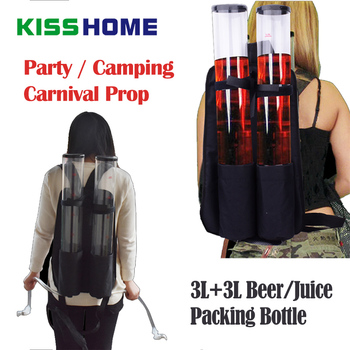 6L Party Dedicated Beer/Juice/Drink Storage Bottle Portable Large Capacity Wine Tower Carnival Prop Creative Bar Accessories