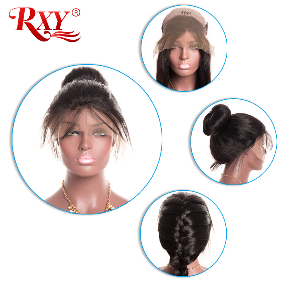 RXY Full Lace Front Human Hair Wigs For Black Women Pre Plucked Full Lace Human Hair Wigs With Baby Hair Peruvian Remy Hair Wig (14)