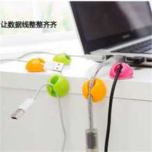 2016 New 6pcs/lot Smart Wire Wiring Cord Cable Drop Clips Ties Organizer Cord Holder Line Fixer