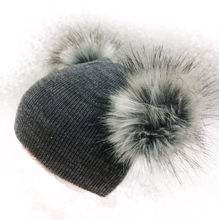 2e2b22675de children s winter infant newborn baby kids faux fur wool hat cap beanie  with 2 two double pom pom beanie for boys and girl 0-40Y