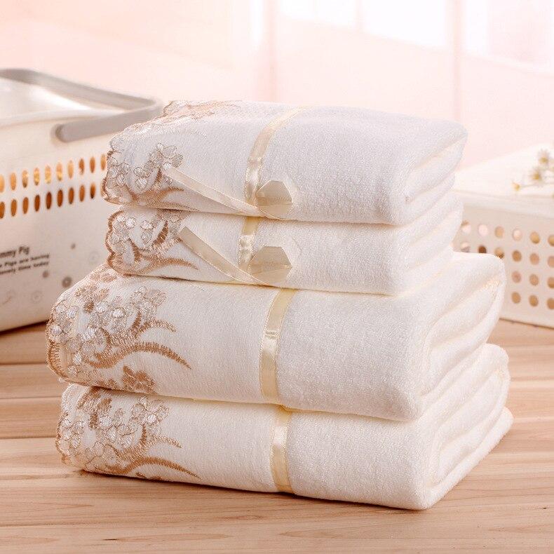 3pcs Quick-Drying Lace Microfiber Towel Set Christmas Gift 70*140cm Bath Towel For Home 35*75cm Face Beach Towel Bathroom