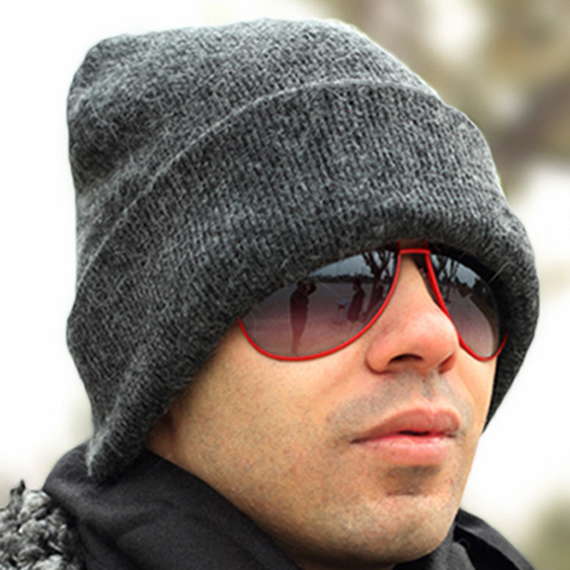 Winter Wool Knitted Hat Knitted Hat Male Cap Winter Thermal Ear Pocket Cap Cold Autumn Warm