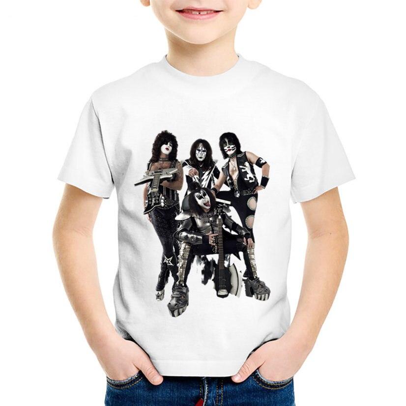 Модные детские футболки с принтом Stormtroopers Fan Kiss рок-группы, крутая летняя футболка для мальчиков и девочек, повседневные топы, детская одежда...
