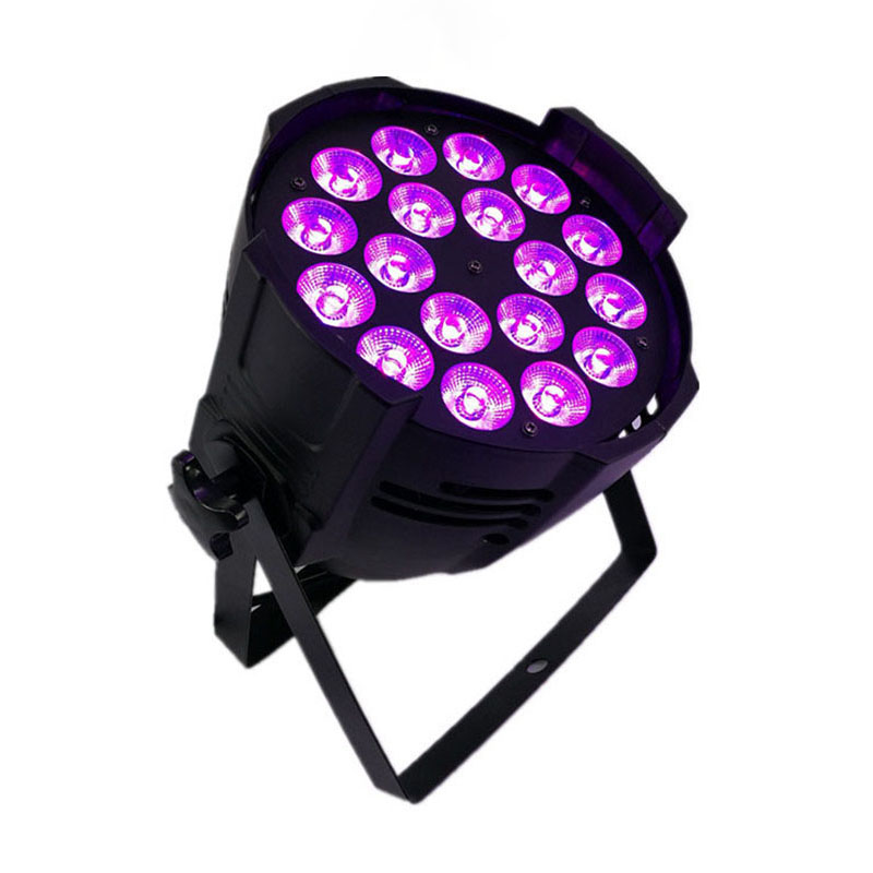 Aluminum alloy LED Par 18x18W RGBWA+UV Lighting LED Par Can Par led spotlight dj projector wash lighting stage lighting litewinsune cw ww 100w cob led par can lighting 3200k 5600k wash stage lighting 6pcs