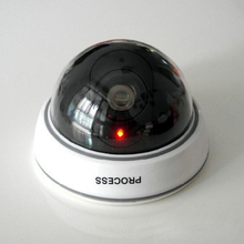 Fake Camera Flicker Blinking LED Indoor Dummy Security Camera CCTV Dome Camera Battery Powered
