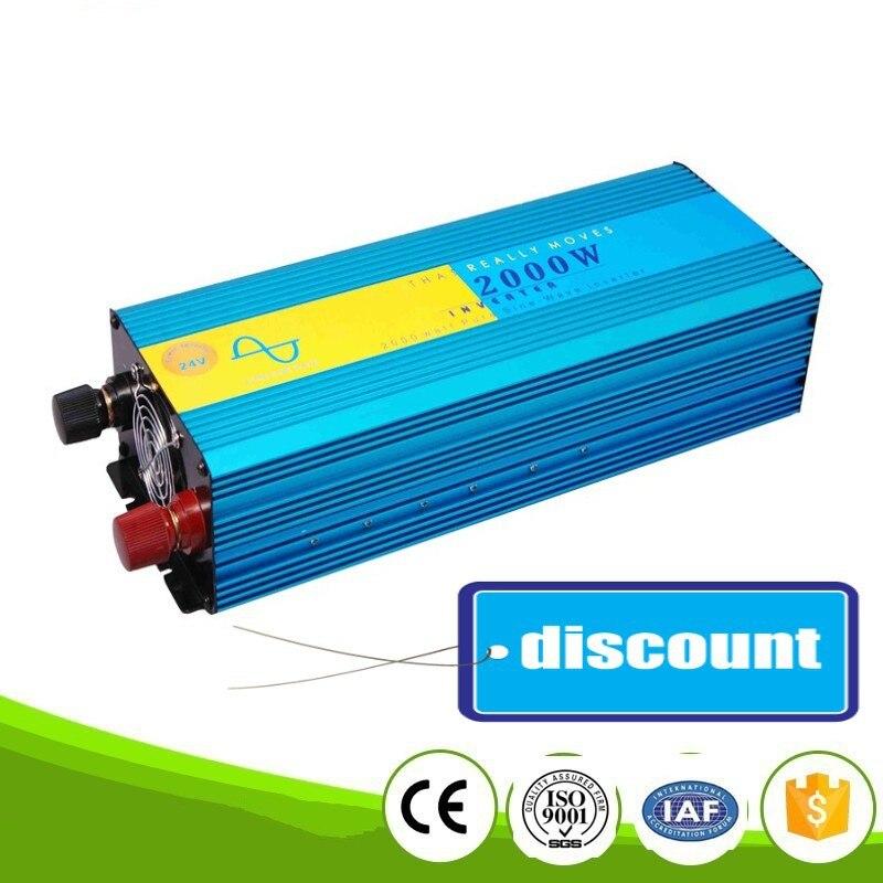 цена на Pure Sine Wave Inverter 2000W 4000W Peak 12V/24VDC 110V/100VAC 220V/230VAC CE RoHS Solar And Car Power Inverter