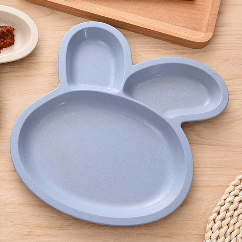 New Cute Plastic Kids Plate Rabbit Shape Cartoon Dinner Plate Divided Dining Dish Baby Learning Dishes Children Snack Plate Tray-in Dishes u0026 Plates from ... & New Cute Plastic Kids Plate Rabbit Shape Cartoon Dinner Plate ...
