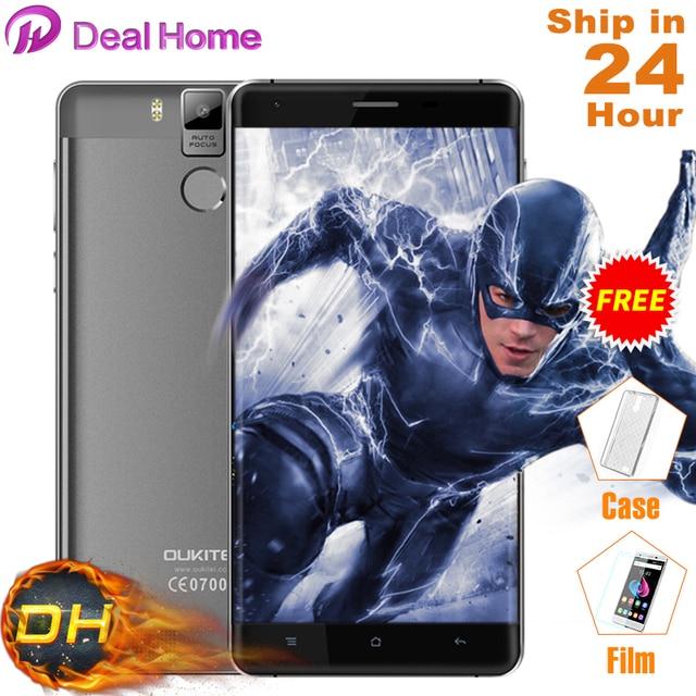 Case+Film)Gift!5.5'' 6000mAh Oukitel K6000 Pro 4G LTE Smartphone MTK6753 Octa Core 3GB+32GB 13MP Android 6.0 Fingerprint