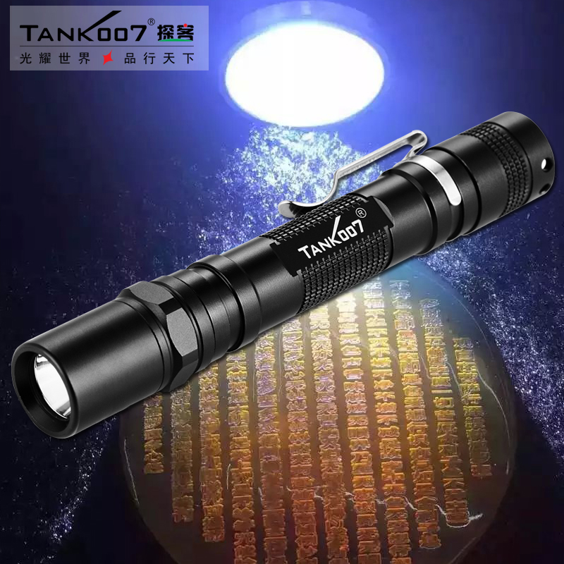 LED TANK007 AA02 365nm 3W linterna japan black light uv flashlight torch for Anti-fake new free shipping tank007 aa02 3w 365nm led linternas uv black light japan flashlight professional portable fluoresce