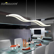 Acrylic Led Pendant Light For Living Room Kitchen Dining Room Lustres Modern Led Pendant Lamp Ceiling Mounted Lamps Hanging Lamp