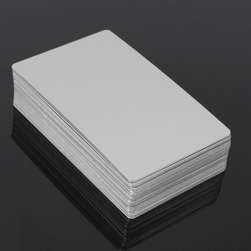 Black Silver Alumium Alloy Card Laser Engraved Metal Business ...