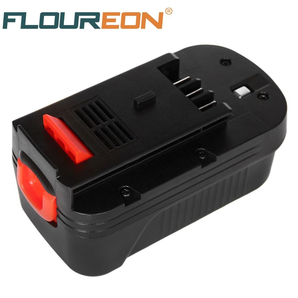 FLOUREON 18V 2000mAh Battery for Black Decker A1718 A18 HPB18 CDC180AK CDC180ASB CDC18GK2 Rechargeable Ni-CD rechargeable 2000mah backup battery case for blackberry 8520 9300 black actual 1400mah