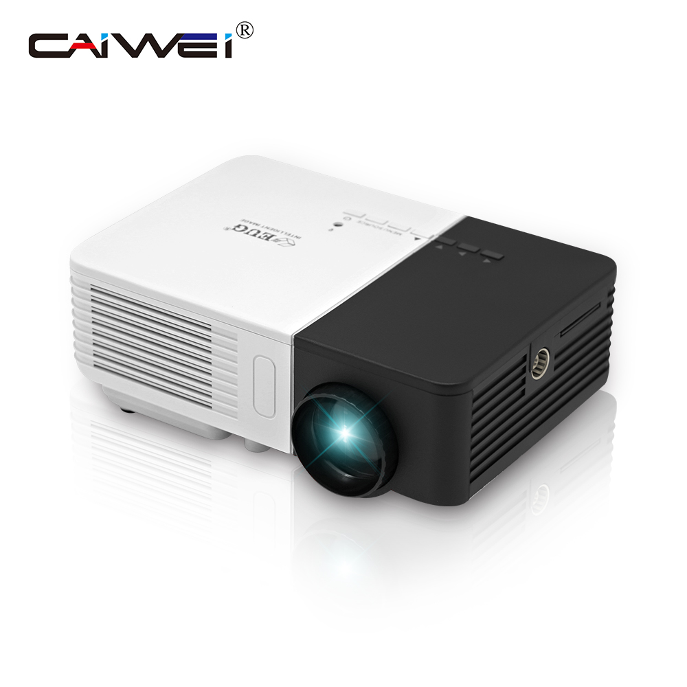 CAIWEI Portable Small Mini LED Projector Desktop Home Theater Movie Video Beamer 100 Lumens 1080p HD for Smartphone Laptop