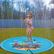 2019 Summer Children's Baby Play Water Mat Games Beach Pad Lawn Inflatable Spray Water Cushion Toys Outdoor Tub Swiming Pool(China)