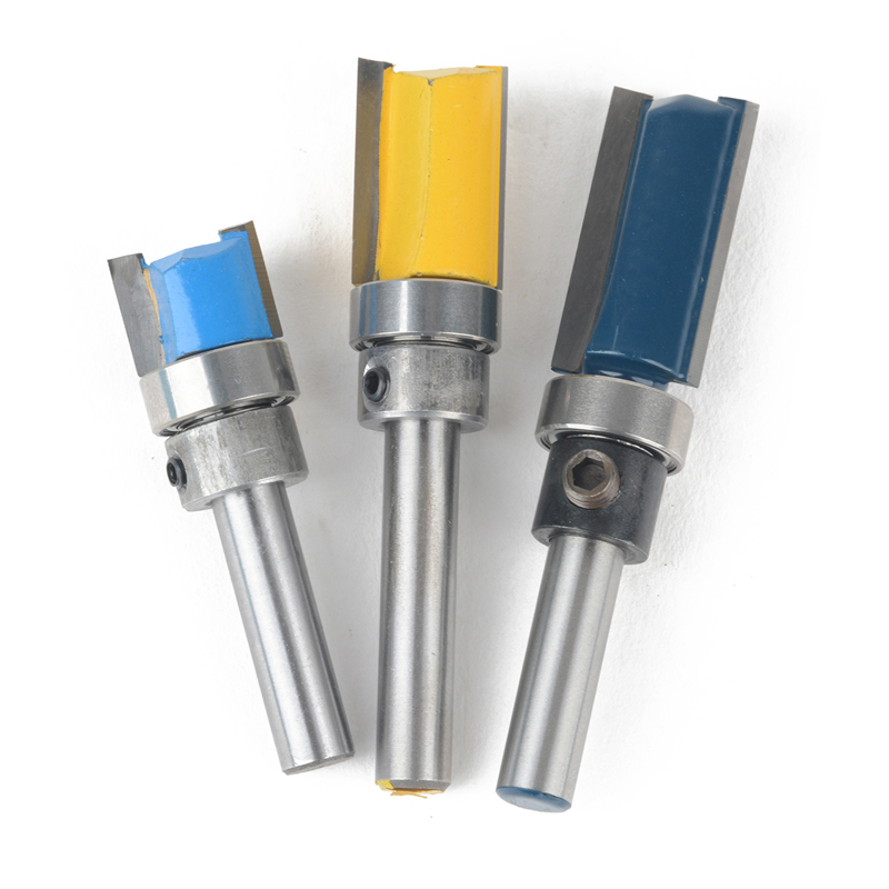 3Pcs Router Flush Trim Bit Wood Woodworking Shank Top Bottom Bearing Router Bit Flush Trim Bit for Woodworking(China)