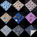 Мужчины Хлопок Сова Якорные Волны Цветочный Платок Карманный Площадь Ханки Партия Смокинг BWTYX0111