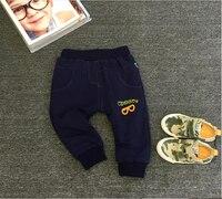 子供のパンツ青パンツ赤ちゃん肥厚100%綿パッド入りベルベットズボン暖かいパンツファッションボトム子供ズボン