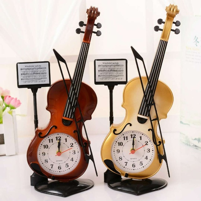 Portable piano plastic alarm clock electronic decorative alarm clock Student creative desktop clock bedside clock