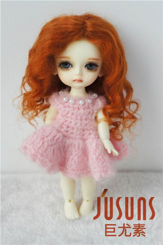 JD039 1/8 size 5-6 inch fashion curly mohair doll wigs 5-6inch Lovely wave long BJD doll wig jd042 1 12 1 8 short cut mohair doll wigs size 4 5 inch 5 6inch fashionable bjd doll wigs tiny doll wig