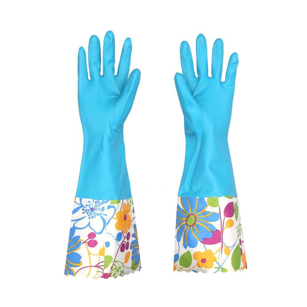 1 Paar Gummi Wäsche Werkzeuge Ungiftig Reinigung Handschuhe Zubehör Dish Waschen Mehrzweck Anti Slip Langarm Haushalt