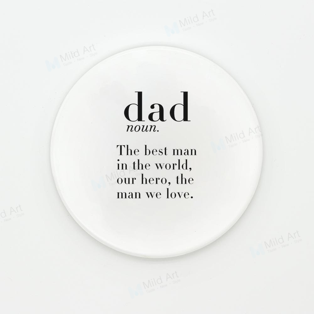 US $4.98  Coffee Tea Beer Ceramic Coaster Nordic Black White Humor Dad Baby  Boy Mum Table Quotes Home Cafe Cup Kitchen Accessories Pad Mat-in Water ...