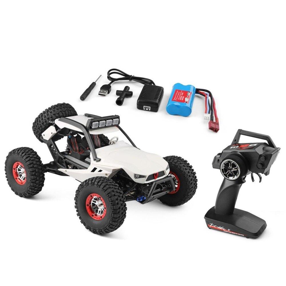 Wltoys 12429 4WD 1:12 RC Off Road Buggy Veículo Rastreador Escalada Carro de Brinquedo com Controle Remoto Farol Do Carro Brinquedos para presente do miúdo RTR