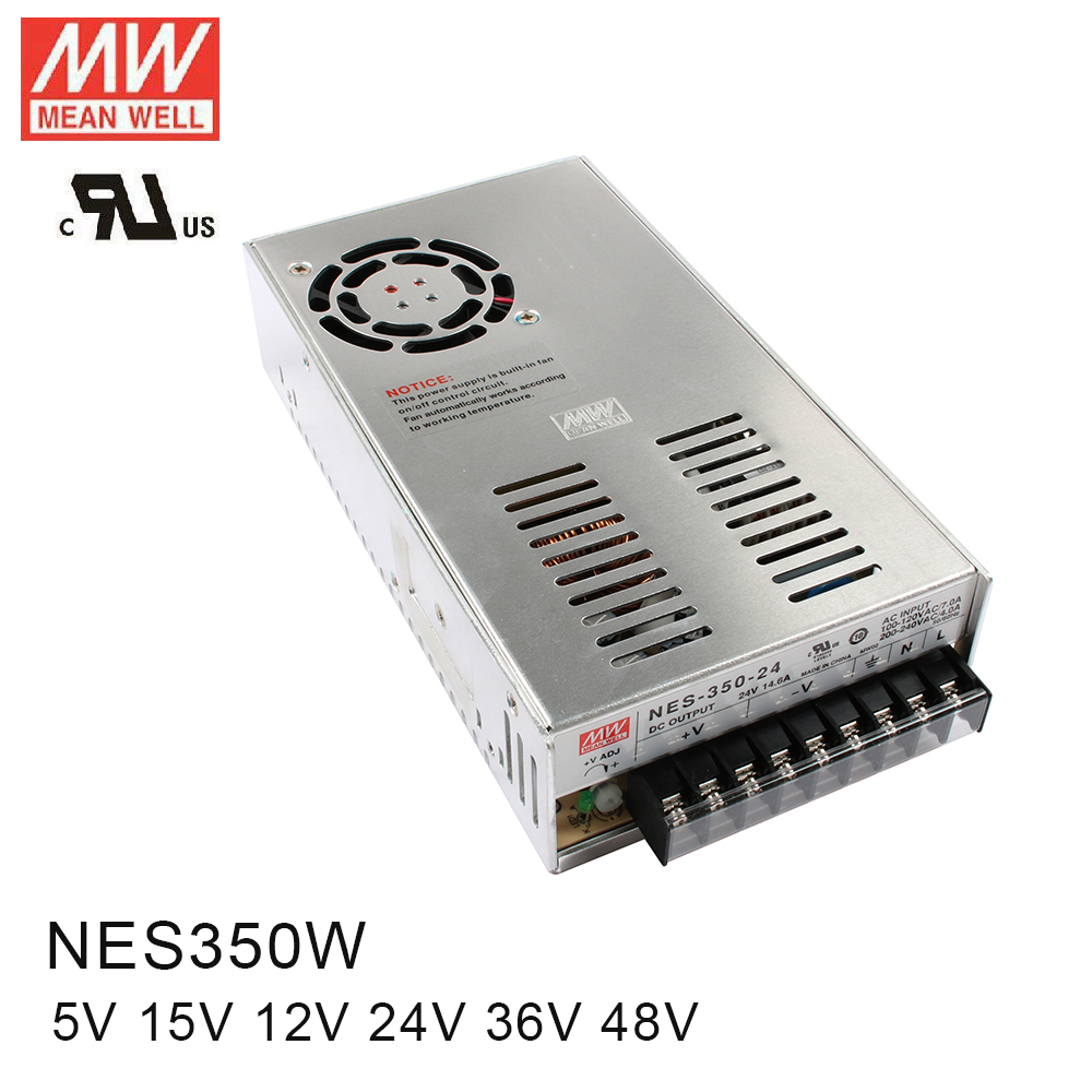 Original MEAN WELL power suply unit ac to dc power supply 350W 12V 29A 5V 60A 15V 23.2A 24V 14.6A 36V 9.7A 48V 7.3A MEANWELL original mean well power suply unit ac to dc power supply nes 350 5 300w 5v 60a meanwell