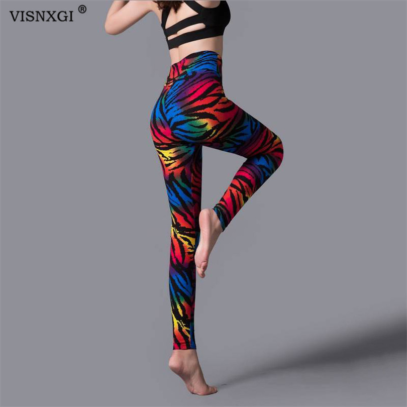 VISNXGI Womans Fashion Push Up Leggings Women Pencil Pants High Waist Workout Legging Workout Pants Push Up Leopard Leggings