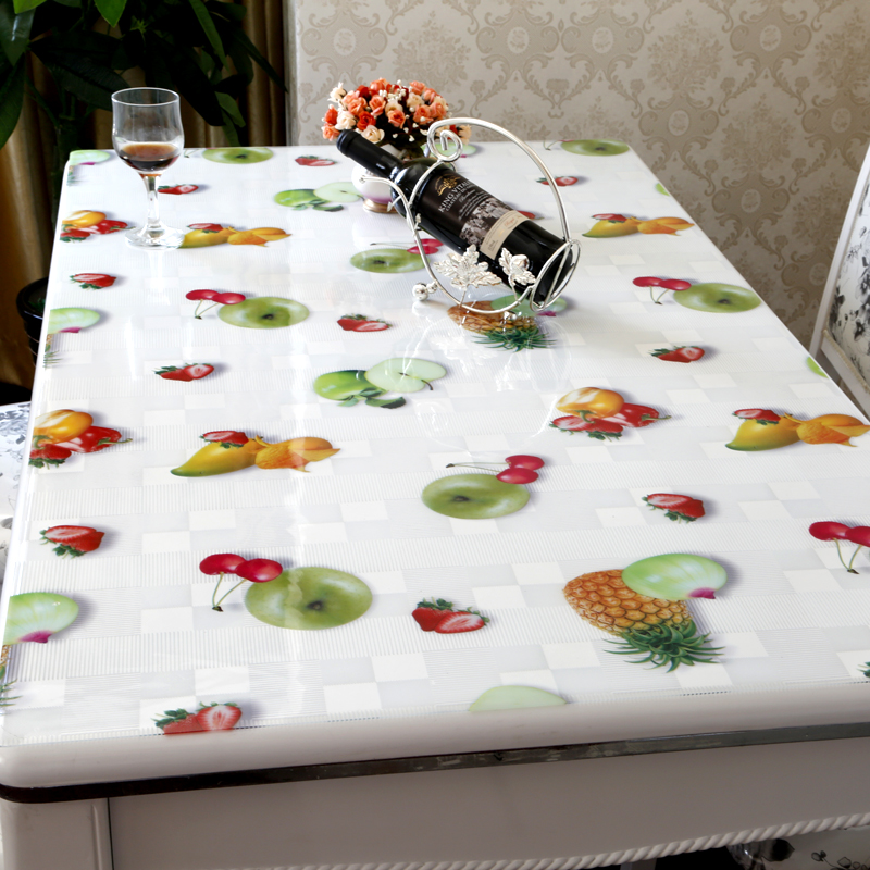 Pvc Table Mats Soft Gl Crystal Plate Transpa Fruit Coffee