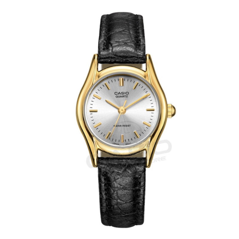 CASIO Watch Women Luxury Brand Casual Ultra Thin Quartz Leather Silver Clock gift 3 bar Waterproof Relojes Mujer LTP-1094E-1A цена и фото