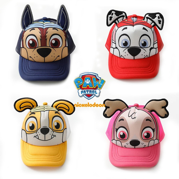 2019 Genuine PAW Patrol Children's summer caps Cotton Cute Chase Skye Marshall Chapeau Puppy Print Breathable baseball hat