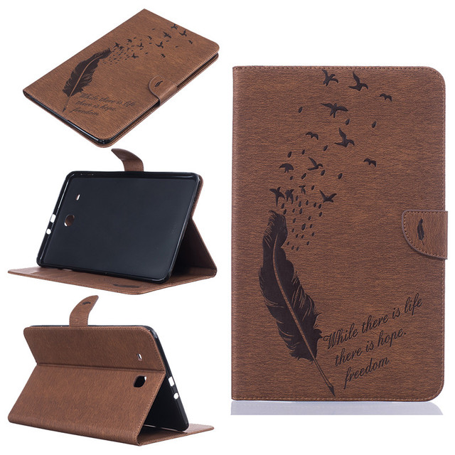Leather Stand Cover Case For Samsung Galaxy Tab E 9.6 T560 SM-T561