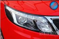 for 2012 2013 new KIA K2 kia Rio LED HID headlights,headlamps,HID Hernia lamp,LED KIT,auto car products, xenon light