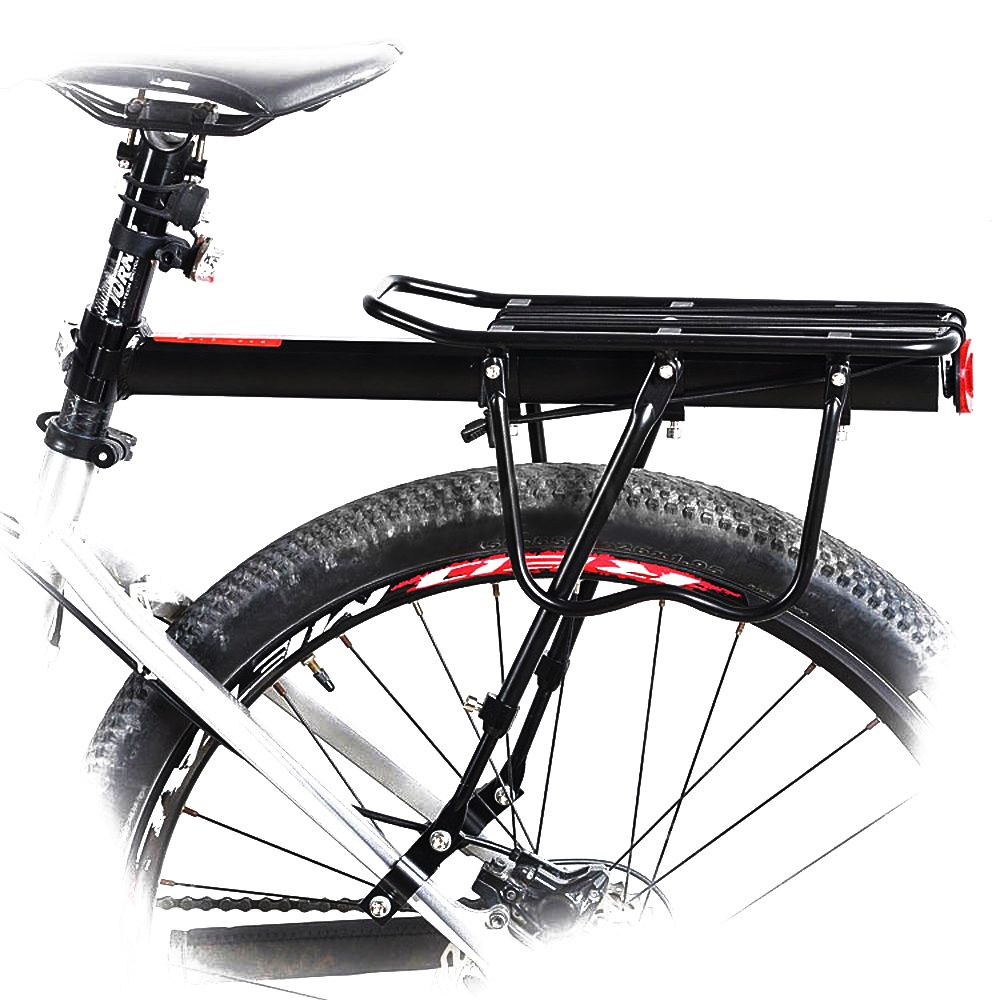 Black Bike Bicycle Quick Release Luggage Seat Post Pannier Carrier Rear Rack Fender