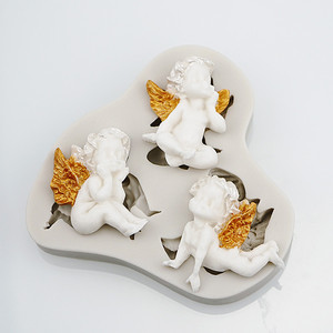 Image 5 - 3D Baby Angel Silicone Mold Fondant Mould Cake Decorating Tool Chocolate Gumpaste Mold Sugarcraft Kitchen Accessories Soap Mould