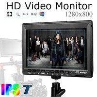 FW759 7 inç IPS 1280x800 HDMI Bilgisayar BMPCC için Alan HD LCD Araç Monitör + 11