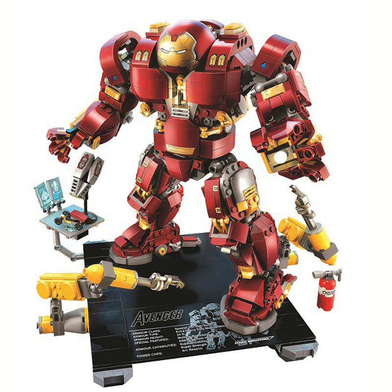 Genuine BELA 10833 1372Pcs Marvel Heroes The Hulkbuster Ultron Model Compatible Legoe 76105 Building Block Toys For ChildrenGenuine BELA 10833 1372Pcs Marvel Heroes The Hulkbuster Ultron Model Compatible Legoe 76105 Building Block Toys For Children