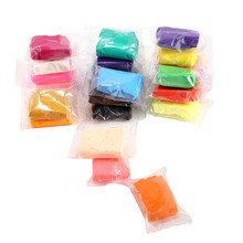 20G 24 Colors Diy Fluffy Foam Slime Clay Light Soft Funny Charms Slime Fruit Kit Cloud Craft Antistress Kids Toys For Children(China)