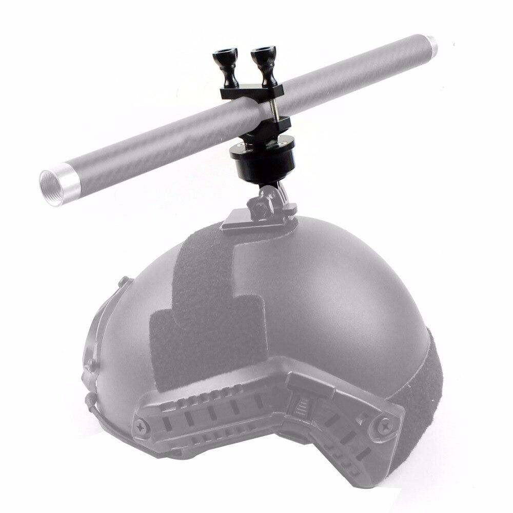 Kamera Kask 360 Döner döner Bar Dağı Özçekim Kol 22 32 MM Gopro 3 3 + 4 5 /Sjcam/GitUp Kamera Bisiklet Skydiving Kayak Üç Ayaklar Tüketici Elektroniği -