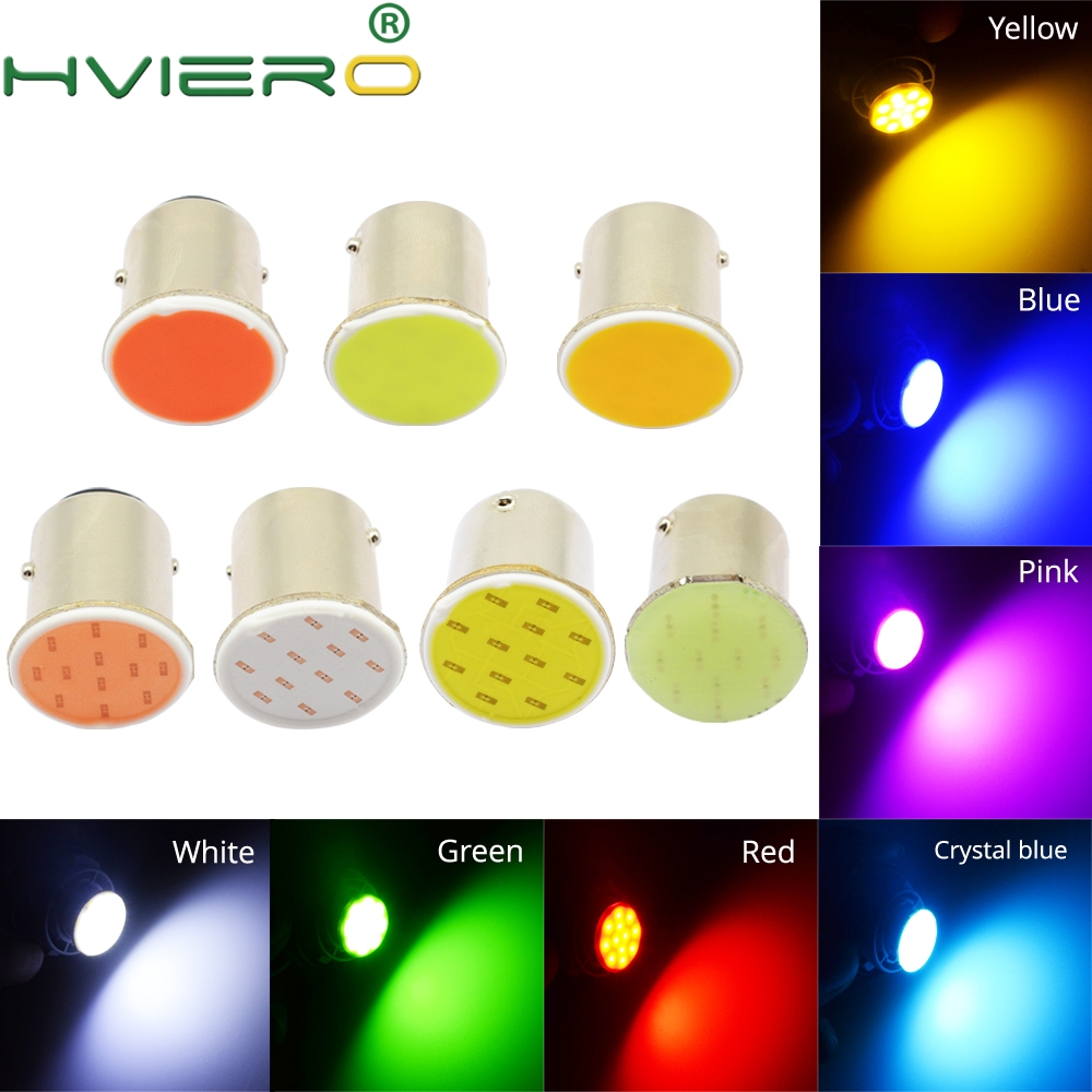 White Red Blue Cob P21w 12 Smd 1156 BA15S 1157 BAY15D DC 12v Down Bulb RV Trailer Truck Car Light Parking Auto Led Backup Lamp cheerlink 1157 11w 800lm 5 led red light car lamp silver white 12v 2 pcs