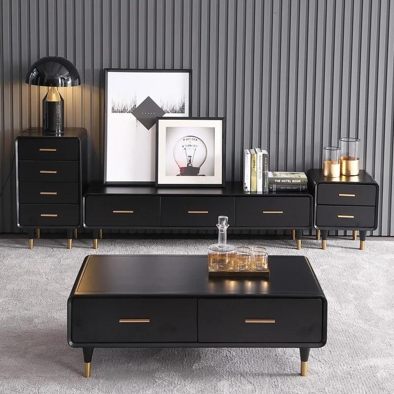 table a the en bois design salon support tv meuble a bords ovales en cuir et marbre meuble tv table cafe