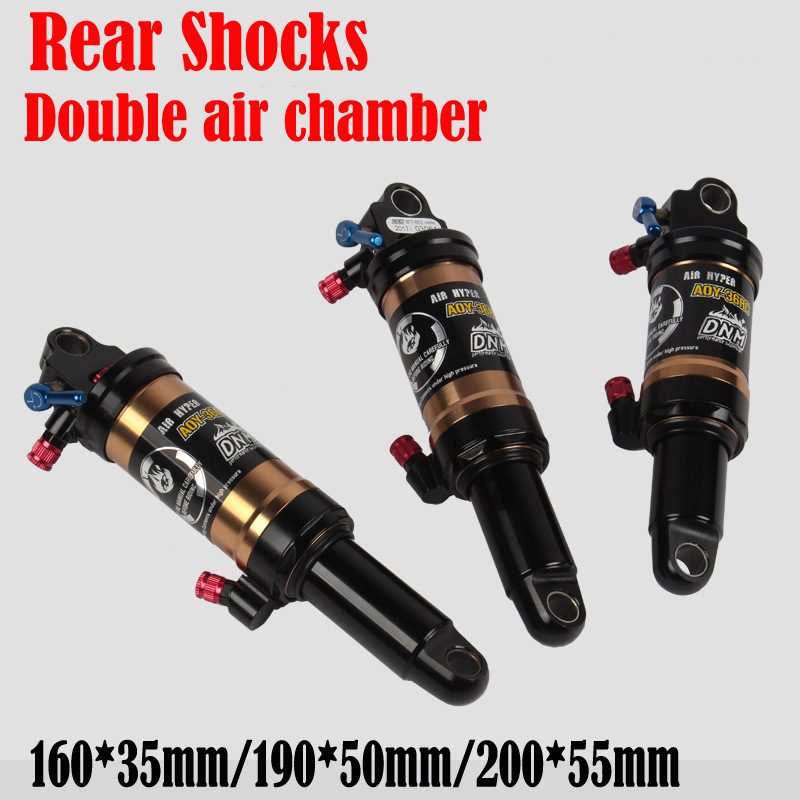 Light Weight 300g High Quality MTB Bike Mountain Bike Bicycle Rear Shocks with Doble Air Chambers for XC Trail Free Shipping