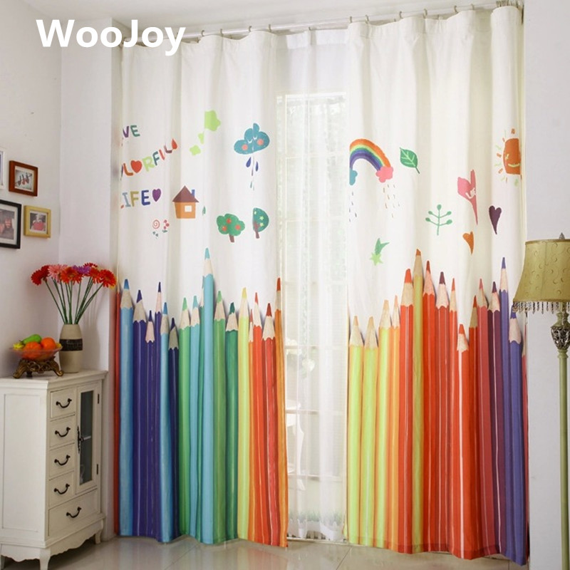 Baby Nursery Curtains Pink Curtains Kids Curtains Pair: Aliexpress.com : Buy 130x250cm Kids Room Curtain Window