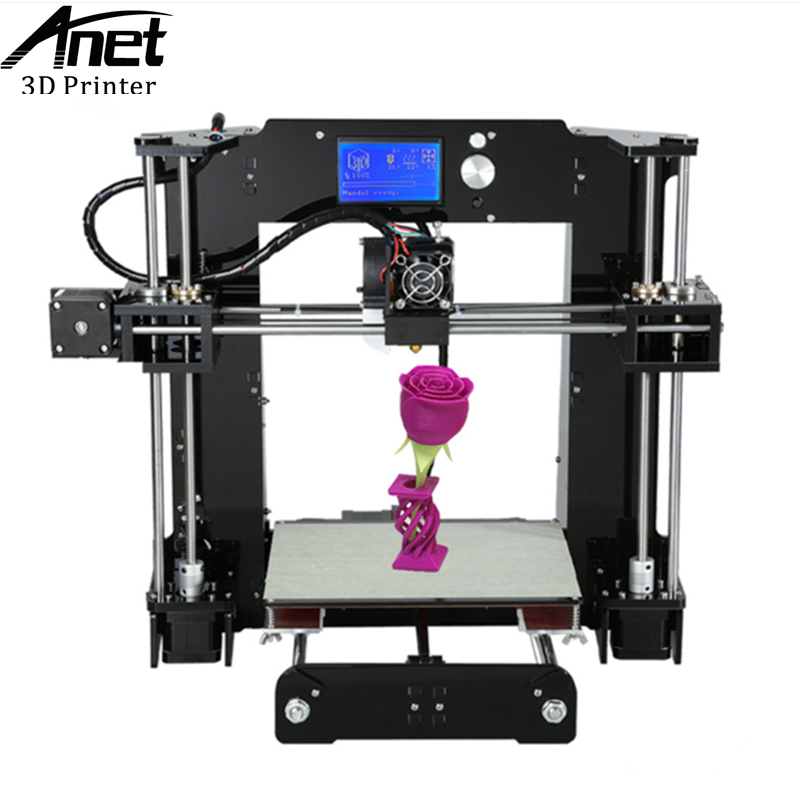 ANET Upgraded High Quality Desktop A6 3D printer  Prusa i3 precision with 1 Kit DIY Roll Filament 16GB SD card Knob LCD screen anet a6 upgraded prusa i3 3d printer easy assemble pla abs filament 16gb sd card knob lcd screen high quality cheap 3d printer
