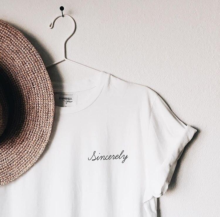 Tisztelettel új divat nyár női pamut póló rövid ujjú kerek - Női ruházat