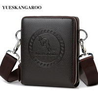 YUES KANGAROO Brand Men Bag Leather Casual High Quality Shoulder Crossbody Bags Classical Business Briefcase Mens