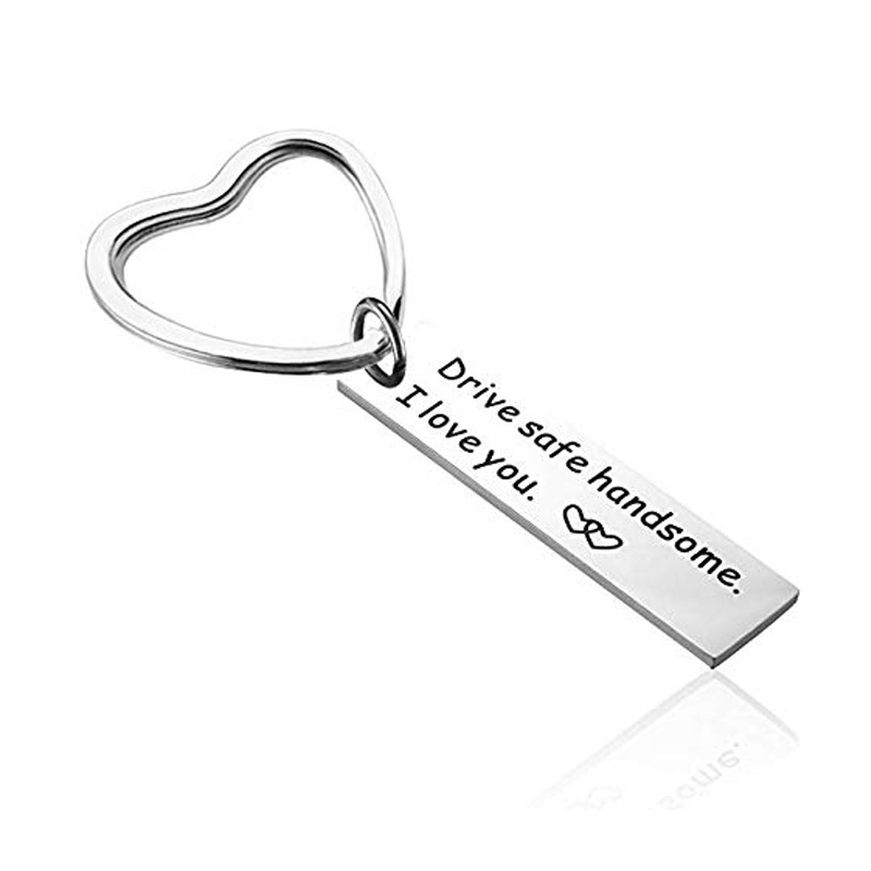 Drive safe handsome I love you key chain Gift for Boyfriend Anniversary Gift Valentines Day Wedding Souvenir Stocking Stuffers in Party Favors from Home Garden